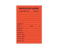 """IV Label - Medication Added - 2"""" x 3"""""""