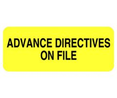 Chart Label  Advance Directives on File