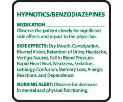 Chemical Restraint Drug Label - Hypnotics/Benzodiazepines