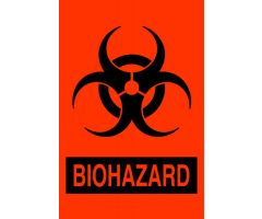 "Label - Biohazard - 2"" x 3"""