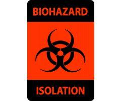 """Label - Biohazard - Isolation - 2"""" x 3"""""""