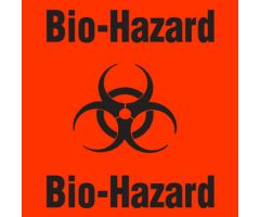 "Label - Biohazard - 6-1/2"" x 6 1/2"""