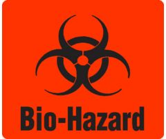 "Label - Biohazard - 3-1/2"" x 3"""