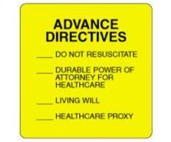 Chart Label  Advance Directives Checkoff