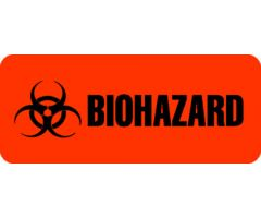 "Label - Biohazard - 15/16"" x 2-1/4"""