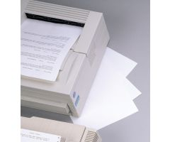 Transcription Label - Full Sheet Laser - Lightweight Stock - White