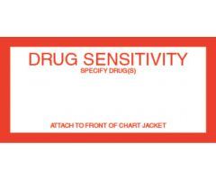 Chart Label - Drug Sensitivity