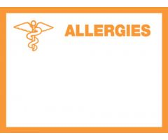 Chart Label - Allergies L-6394