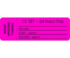 IV Set Label - 24 Hours Only
