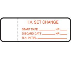 IV Set Label - IV Set Change