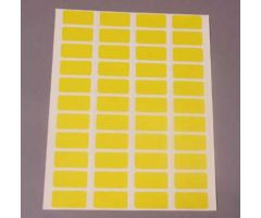 Charge Labels  Resource System Compatible  Laser  4 Across  Yellow