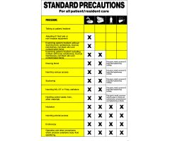 "Sign - Isolation Precaution - Standard - Laminated - 10"" x 16"