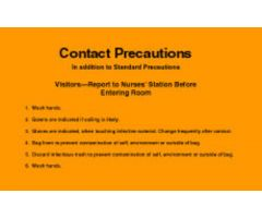 "Sign - Isolation Precaution - Contact - Laminated - 8"" x 5"""