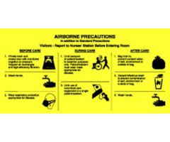 "Sign - Isolation Precaution - Airborne - Laminated - 10"" x 5"""