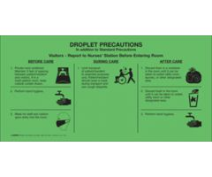 "Sign - Isolation Precaution - Droplet - Laminated - 10"" x 5"""