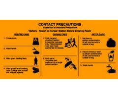 "Sign - Isolation Precaution - Contact - Laminated - 10"" x 5"""