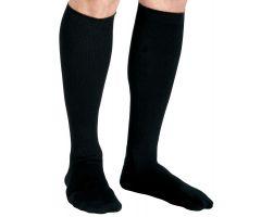 CURAD Knee-High Compression Dress Socks with 20-30 mmHg, Black, Size C, Short Length