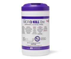"""Medline Micro-Kill One Germicidal Alcohol Wipes, Reclosable Canister, 65-Count, 7"""" x 15"""""""