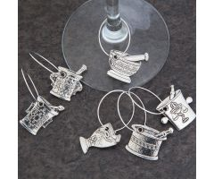 Mortar and Pestle Wine Charms, Set of Six