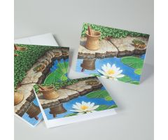 Frog Pond Mortar and Pestle Note Cards
