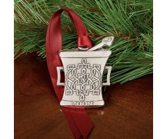 Pewter Mortar and Pestle Ornament - 2009