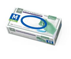 Professional Powder-Free Textured Nitrile Exam Gloves with Aloe, Size M
