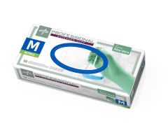 Professional Powder-Free Textured Nitrile Exam Gloves with Aloe, Size M, PRO31772H