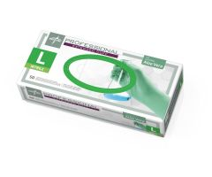 Professional Powder-Free Textured Nitrile Exam Gloves with Aloe, Size L