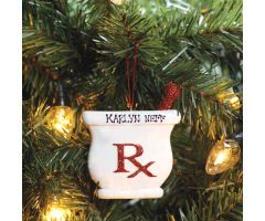 Glitter Rx Ornament - Personalized