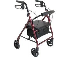 ProBasics Junior Rollator with 6-inch Wheels, Burgundy, 250 lb Weight Capacity