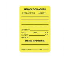 "LABEL, MEDICATION ADDED, 2""X3"", YELLOW, 320 RRDULHH503"