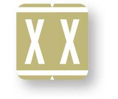 "Alpha File Folder Label - GBS/VRE  8500 Compatible, 1-1/4"" x 1-5/16""  ULAF8850X"