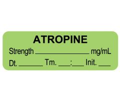 "Anesthesia Label, Atropine mg/mL DTI 1-1/2"" x 1/2"""