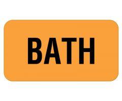 "Bath Label 1-5/8"" x 7/8"""