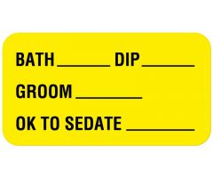 "Boarding and Grooming Care Label 1-5/8"" x 7/8"""