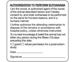 "Authorization and Consent for Treatment Label, 2-1/2"" x 2-1/2"""