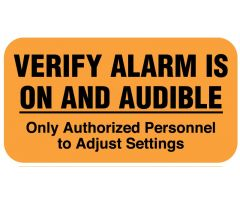 "Alarm Verification, 1-5/8"" x 7/8"""