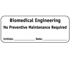 "Biomed Engineering No PM Required, 2-1/4"" x 7/8"""
