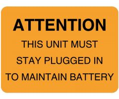 Battery & Lamp Maintenance Label