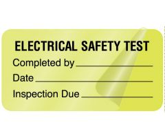 Electrical Equipment Safety Label - 500 Labels/Roll