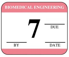 "Biomedical Engineering Inspection Label - 1-1/4"" x 1"""