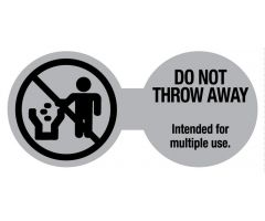 "Do Not Throw Away Cord Label, 3-1/4"" x 1-1/2"""