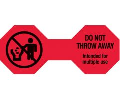 "Do Not Throw Away Cord Label, 5"" x 2"" - Red"