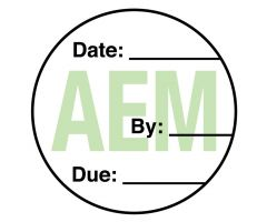 AEM Equipment Maintenance Label, 3/4""