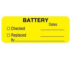 "Battery & Lamp Maintenance Label, 2-1/4"" x 7/8"""