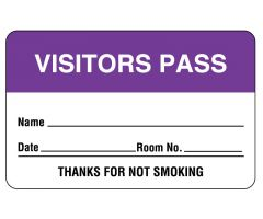 "Name Badges, 2-3/4"" x 1-3/4"" - Purple"