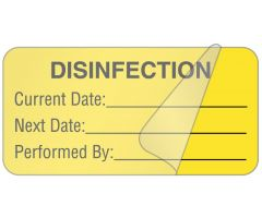 "Disinfection, 2"" x 1"""