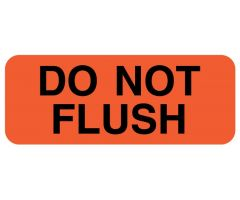 "DO NOT FLUSH, IV Label, 2-1/4"" x 7/8"""