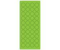 "3/4"" Fl. Green Laser Sheet, 4"" x 9 1/2"
