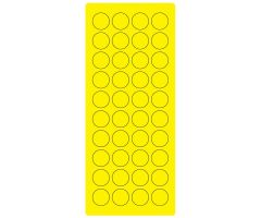 "3/4"" Fl. Yellow Laser Sheet, 4"" x 9"" ULPL410FY"